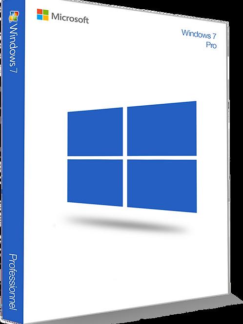 Microsoft Windows 7 Professionnel 32/64 Bit - (clé de produit)