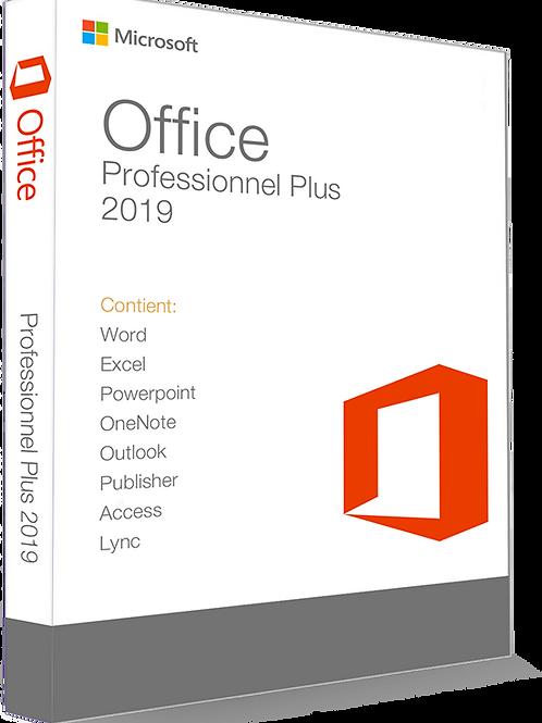 Microsoft Office 2019 Professionnel Plus 32/64 Bit - (clé de produit)
