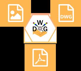 Les combatibilités de M-ElecDWG : DWG, Images, PDF, ...