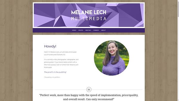 Melanie Lech Multimedia Website screenca