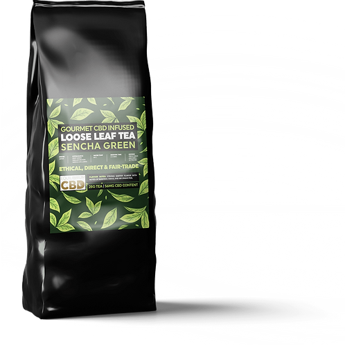 CBD infused Sencha green loose leaf tea ( Bags or Loose )
