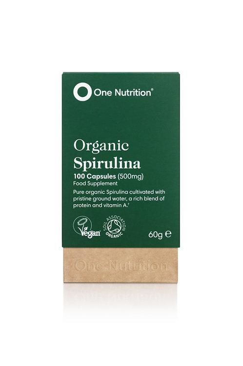 Organic Spirulina - 100 Capsules (500mg)- VEGAN