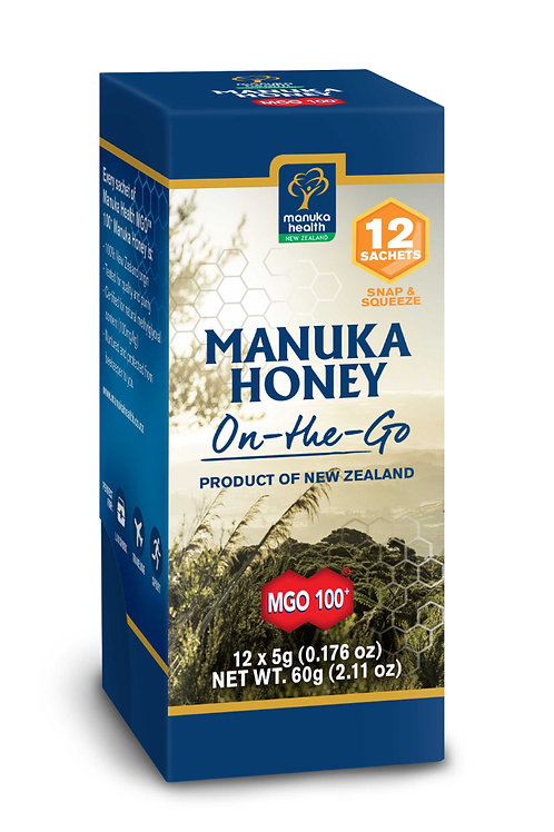 MGO 100+ Pure Manuka Honey - Snap Pack - 5G - Pack of 12 NEW!