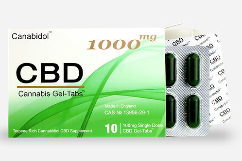 Canabidol RAW CBD Gel-Tabs 100mg 250mg 500mg 1000mg