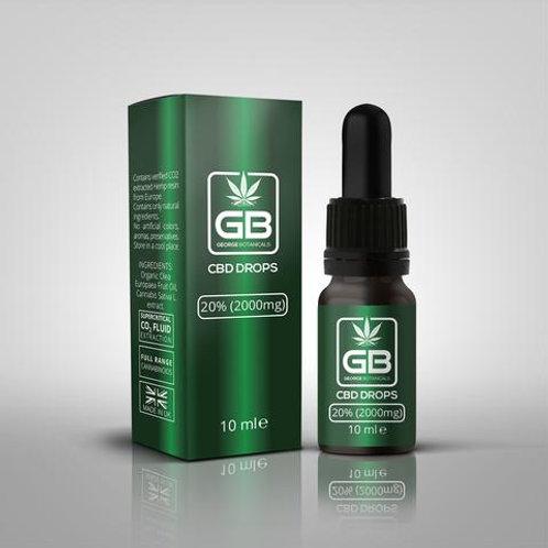 CBD Oil Drops UK 20% 10ml Bottle High Strength Full Spectrum