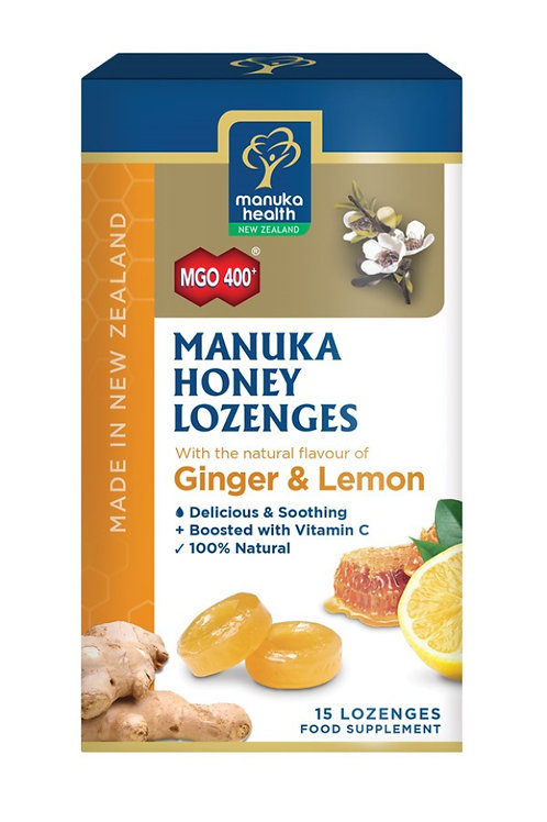 Manuka Honey Lozenges with Ginger and Lemon 65g