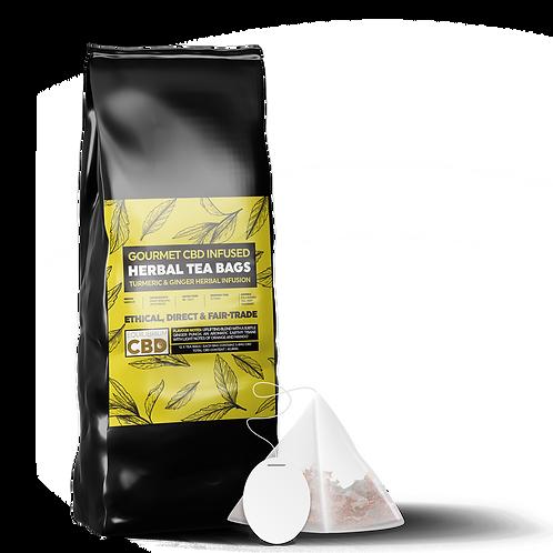 Full Spectrum CBD Infused Ginger & Turmeric Tea ( Bags or Loose )