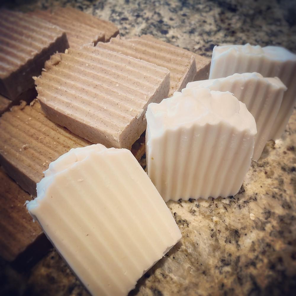 homemade artisan goat milk soap
