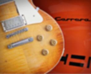 Walt Grace Vintge Porsche Carrera and Gibson Les Paul