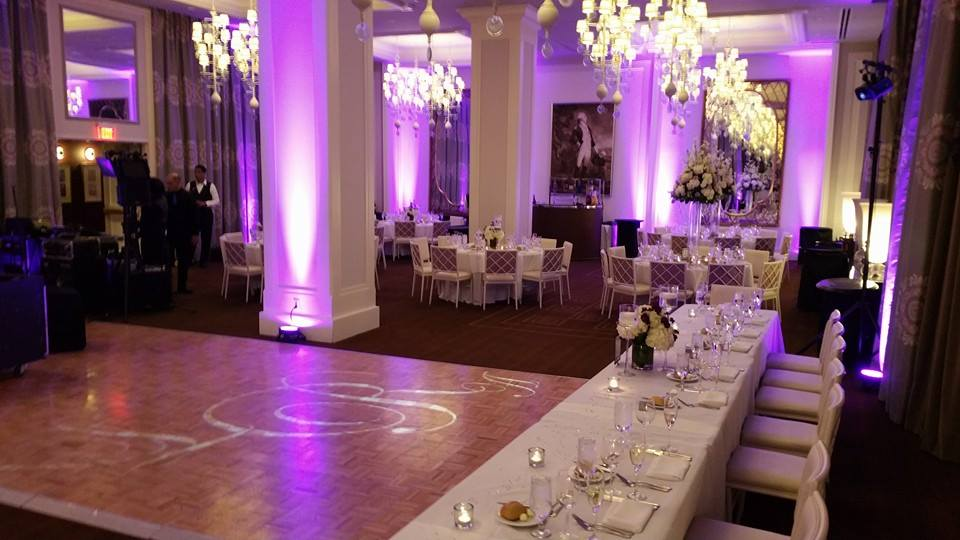 uplighting wedding venue
