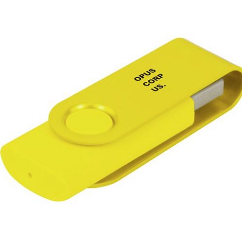 Clé USB jaune 8Go OPUS CORPUS