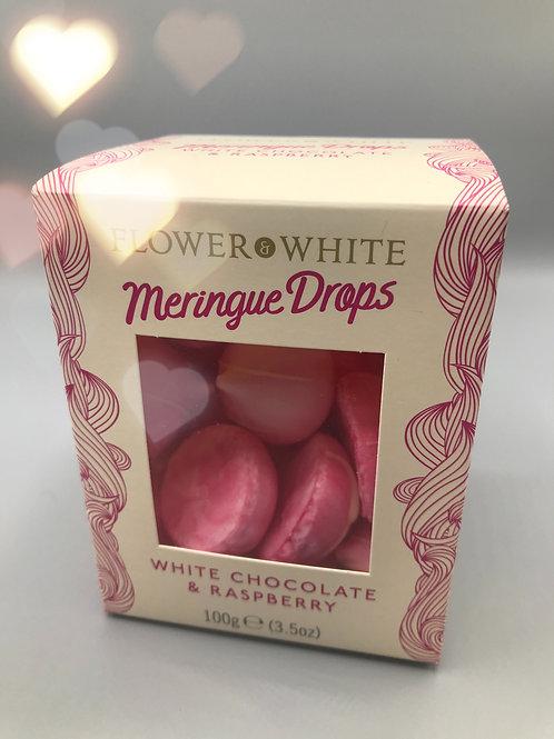 White Chocolate & Raspberry Meringue Drops