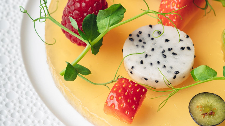 Chenot Palace Weggis, Switzerland - Detox fruit mosaic
