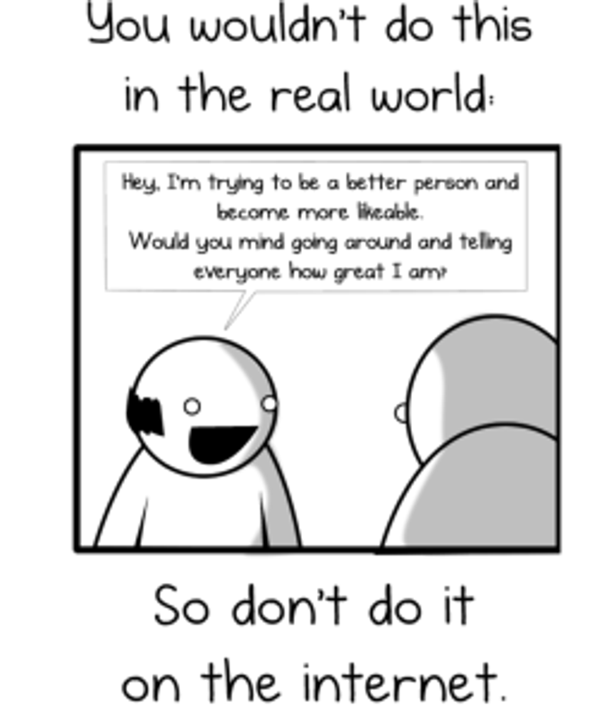 The Oatmeal: How to get more likes on Facebook http://theoatmeal.com/comics/facebook_likes