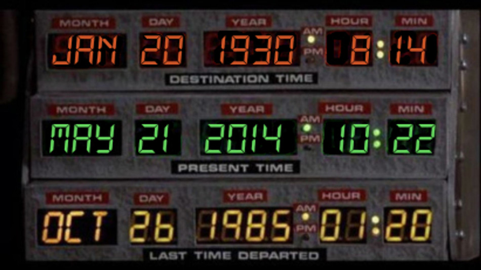 Get in the Delorian! We're going to 1930!