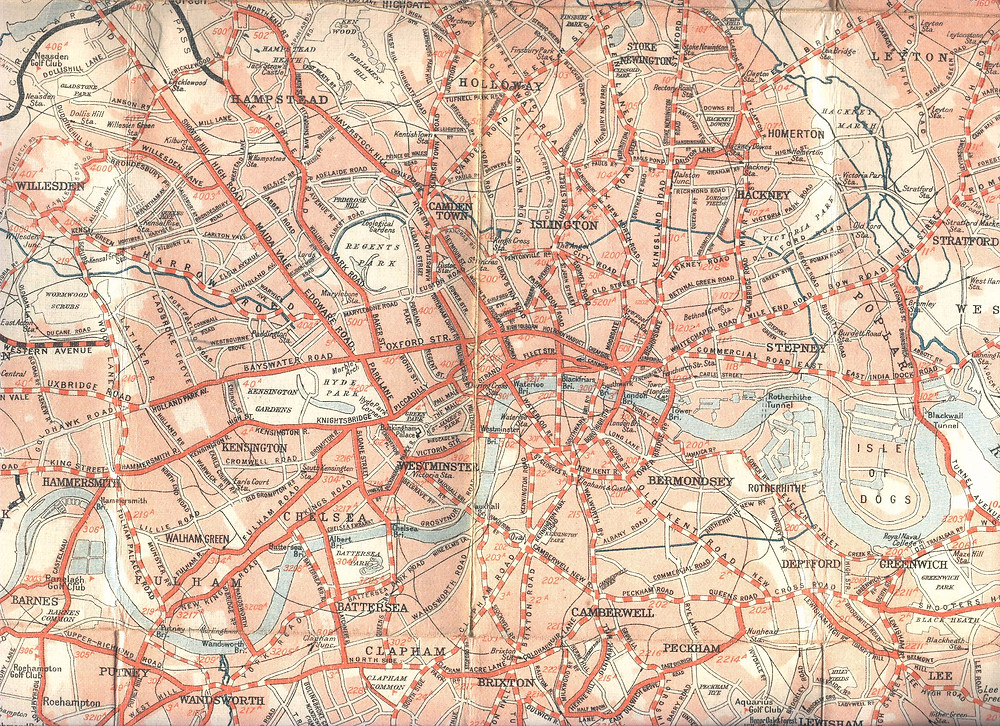 road map of london from 1926