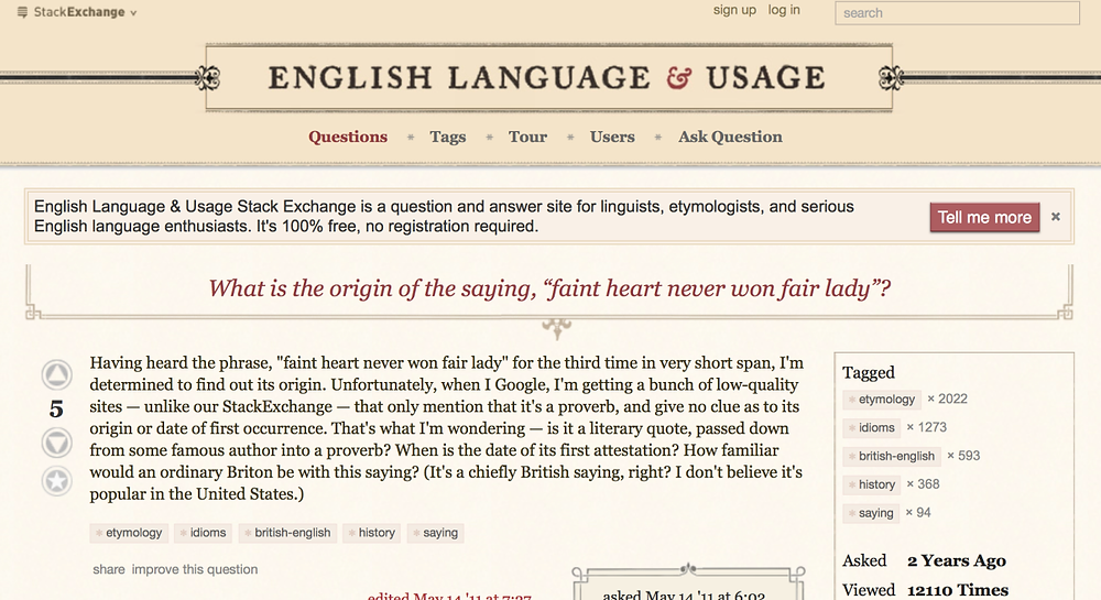 English Language and Usage - a fantastic research source!