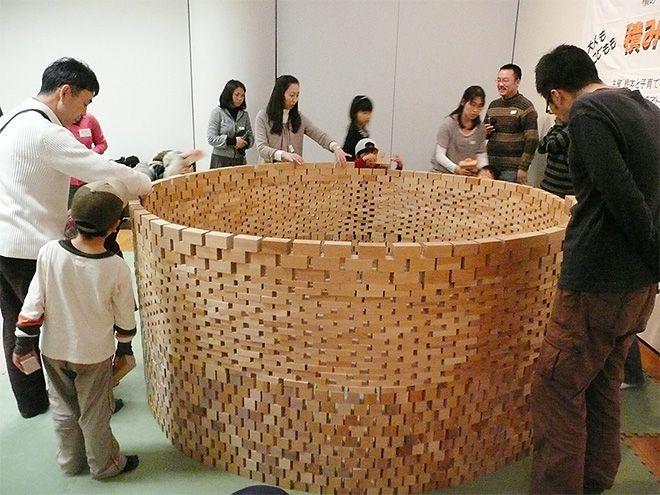 和久洋三のわくわく創造アトリエ 吉祥寺プレイルームの積み木ワークショップ