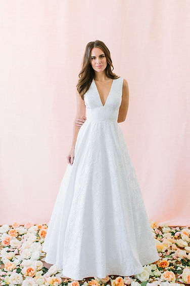 Hughes-V-Neck-Plunging-Ball-Gown-Wedding