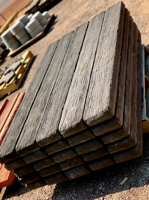 Wood Grain Retaining Wall Sleepers Full Length