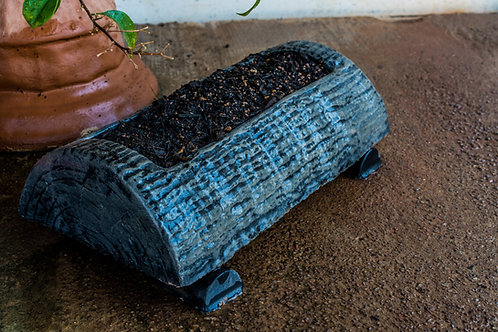 Small Log Garden Planter