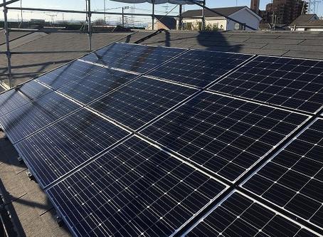 カネカ3.375kW 太陽光発電設置工事完了しました