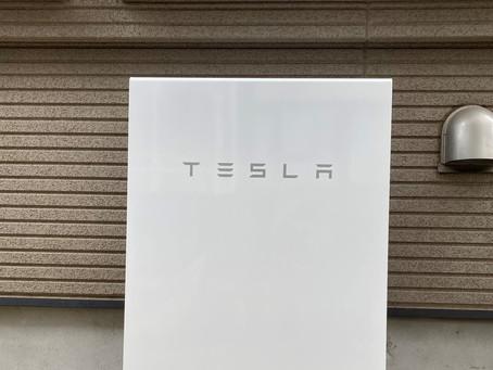 テスラ蓄電池の設置工事完了しました