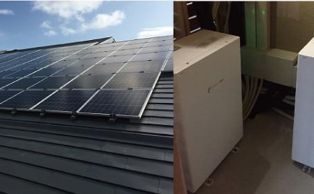 エネルギーギャップ製PVと蓄電池設置工事完了しました