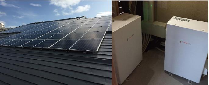 千葉県O様:エネルギーギャップ製太陽光発電 34.56kWと蓄電池6.5kWhを2台
