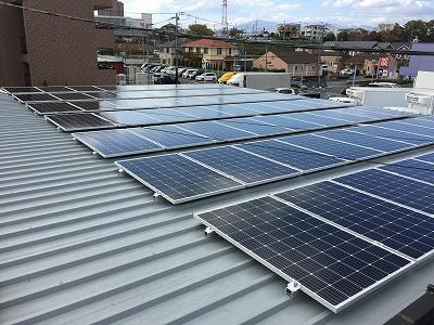 Panasonic太陽光発電の工事完了しました