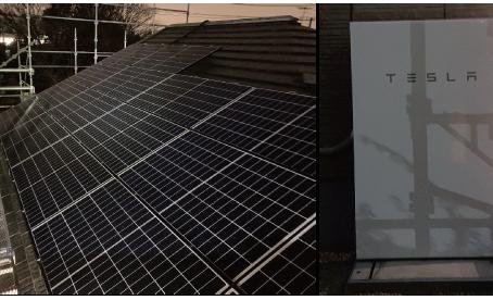 ハンファQセルズのPVとテスラ蓄電池設置工事完了しました