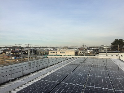 太陽光発電の設置工事完了しました