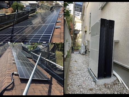 太陽光発電とテスラ蓄電池の設置工事完了しました