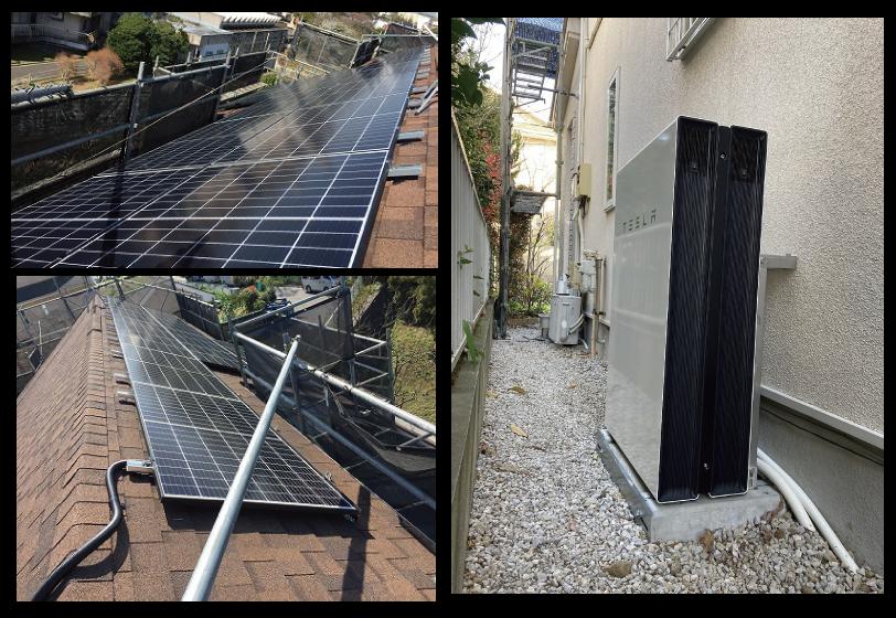 横浜市M様:太陽光発電5kWとテスラPowerwall13.5kWh×2台
