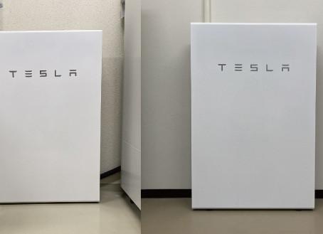 テスラ蓄電池2台の設置工事完了しました