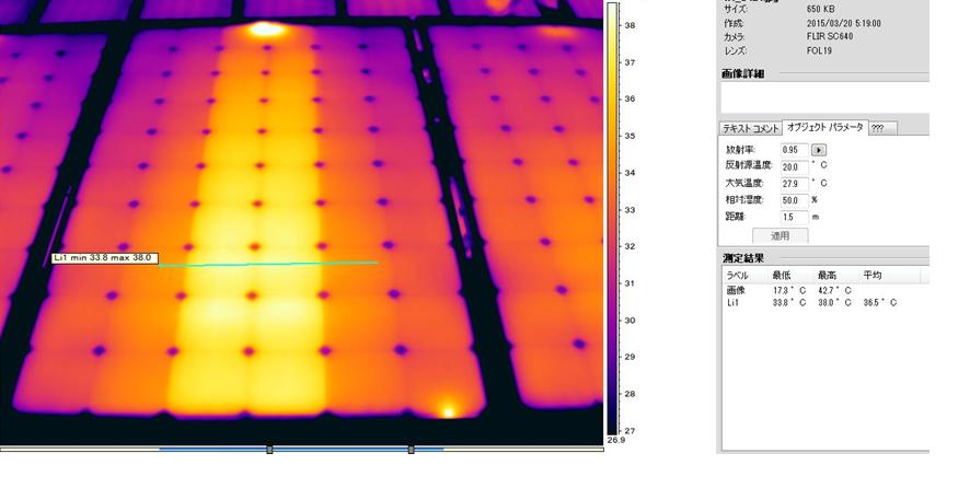 ソフトウェアを使用し、各欠陥の温度差を計算する