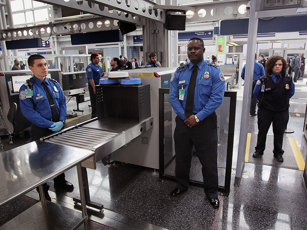 US Airport Security Metal Detectors