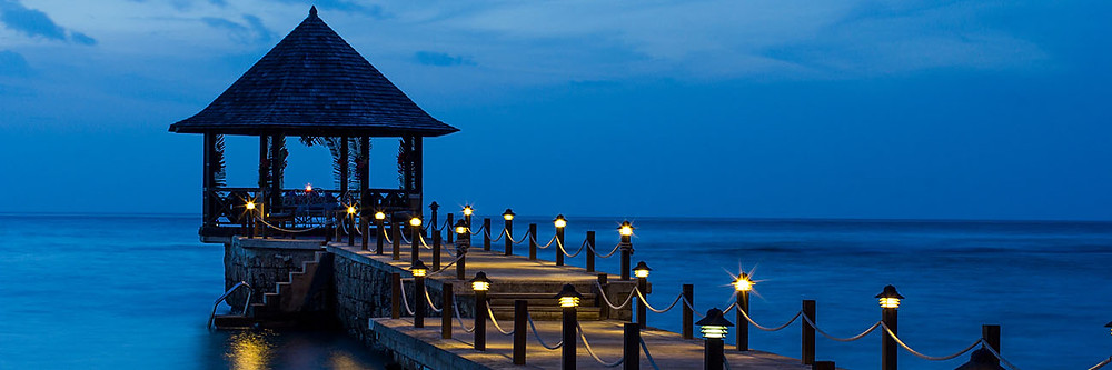 The gazebo on the pier at the Tryall Club
