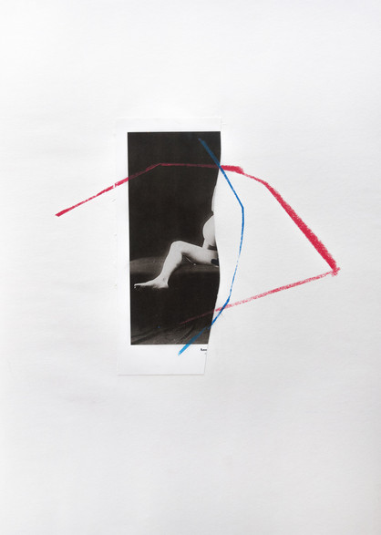 Anonymous (1000 Nudes, Taschen) Mix media, 40x30cm, 2017