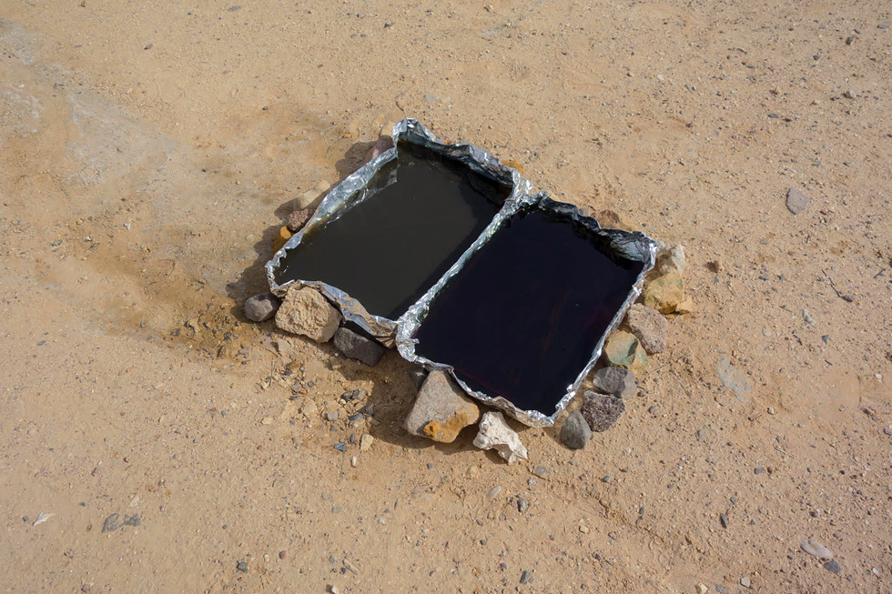 Cyanotype, Sinai, 2017