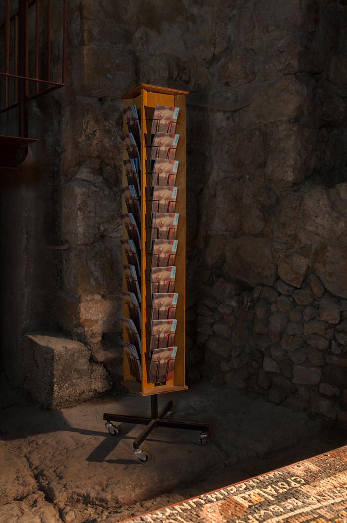 5,00 € Postcards & Postcard display stand, Installation view