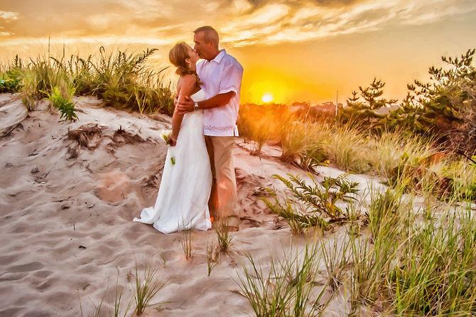 sunset wedding east beach artistic.jpg