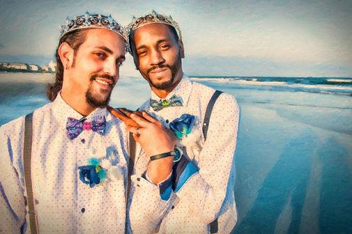 gay wedding in RI, Newport