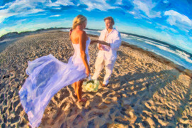 beach photography for weddings in RI