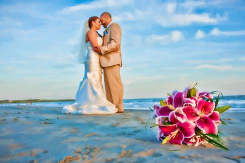 Newport wedding photo art