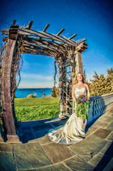 beach wedding photo art in RI