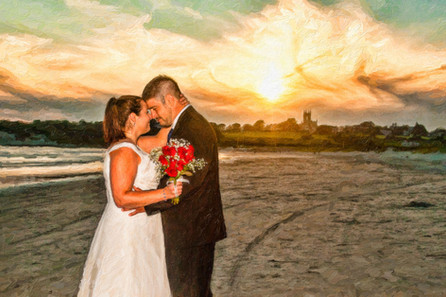 sunset wedding photography RI