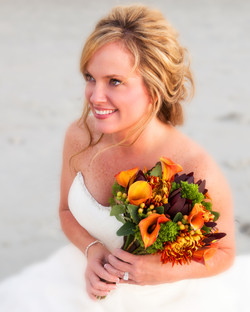 bride with bouquet-2