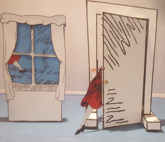 THE CAT IN THE HAT - Custom rolling door and window units with leg cut-out