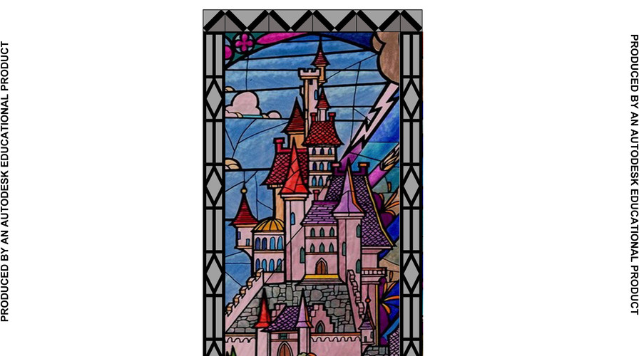 CENTER CASTLE PANEL WITH BORDER